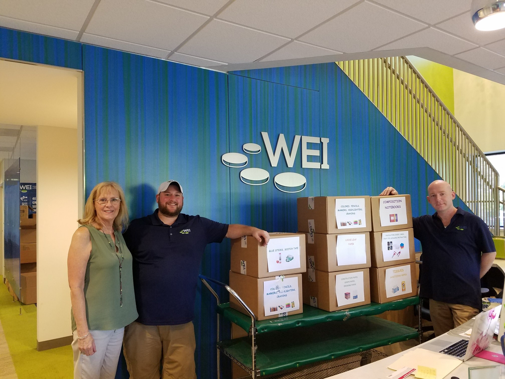 WEI StepsUP Back-to-school donations
