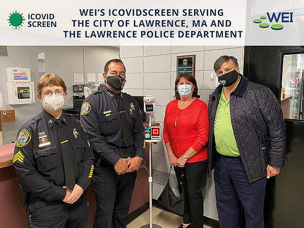 WEI Donates COVID-19 Screening solution to Lawrence, MA Police Department