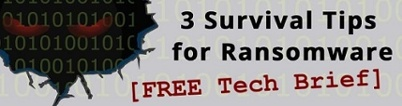 FREE Tech Brief - 3 Survival Tips for Ransomware